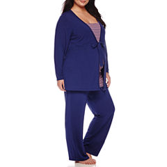 Sleep Chic Maternity 3-pc. Pajama Set - Plus