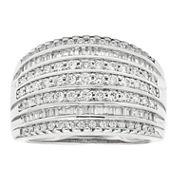 1 CT. T.W. Diamond 10K White Gold Wedding Band