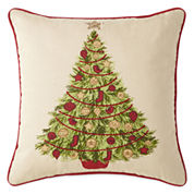 North Pole Trading Co. Christmas Tree Decorative Pillow