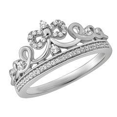 Enchanted by Disney 1/6 C.T. T.W. Diamond Sterling Silver