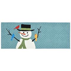 Liora Manne Frontporch Snowman And Friends Hand Tufted Rectangular Runner