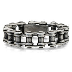 Mens Stainless Steel Bike Chain Band