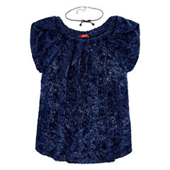 Arizona Burnout Velvet Top w/ Choker - Girls' 7-16 and Plus