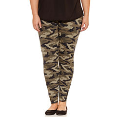 Flirtitude Camouflage Jersey Leggings-Juniors Plus