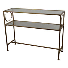Decor Therapy Glass Console Table