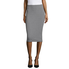 City Streets Ribbed Pencil Skirt