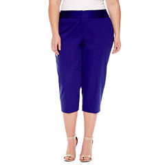 Worthington® Sateen Cropped Pants - Plus