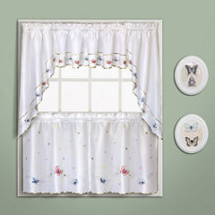 United Curtain Co. Butterfly Rod-Pocket Kitchen Curtains