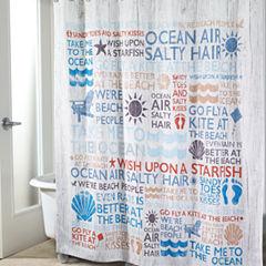 Avanti® Beach Words Shower Curtain