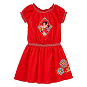 Disney Elena Short-Sleeve Woven Dress - Girls 2-10