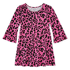 Okie Dokie Short Sleeve A-Line Dress - Toddler Girls