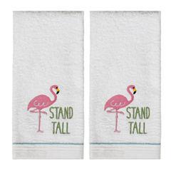 Saturday Knight 2-Pack Flamingo Hand Towel