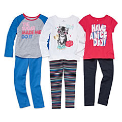 Okie Dokie® Tees or Leggings - Preschool Girls 4-6x
