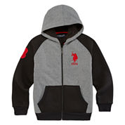 U.S. Polo Assn.® Long-Sleeve Fleece Cotton Hoodie - Boys 8-20