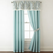 Home Expressions™ Lucerne 2-Pack Rod-Pocket/Back-Tab Lined Curtain Panels