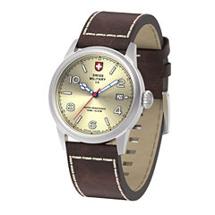 Swiss Military By Charmex Vintage Mens Brown Strap Watch-78335_8_D