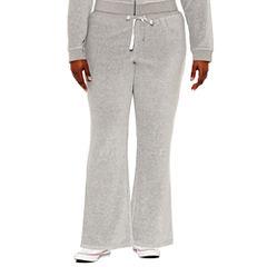 Flirtitude Velour Workout Pants Juniors Plus