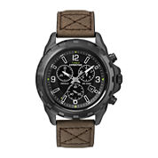 Timex® Expedition® Mens Rugged Leather Strap Field Chronograph Watch T499867R