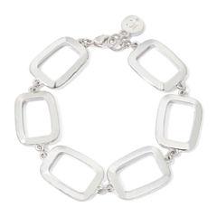 Liz Claiborne® Silver-Tone Box Flex Bracelet