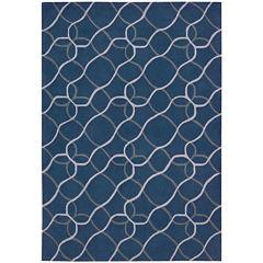 Nourison® Waves Hand-Carved Rectangular Rug