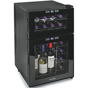 Wine Enthusiast® Silent 24-Bottle Dual-Zone Touchscreen Wine Refrigerator