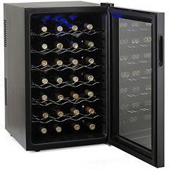 Wine Enthusiast® Silent 28-Bottle Touchscreen Wine Refrigerator