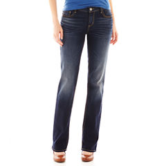 Arizona Curvy Bootcut Jeans-Juniors