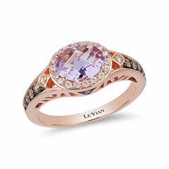 LIMITED QUANTITIES! Levian Corp Le Vian Womens 1/3 CT. T.W. Purple Amethyst 14K Gold Cocktail Ring