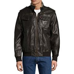 Levi's® Faux-Leather Trucker Bomber Jacket