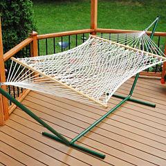 11-Foot Single Polyester Rope Hammock
