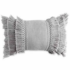 Peri Fringe Round Throw Pillow