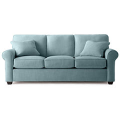 Fabric Possibilities Roll-Arm Queen Sleeper Sofa