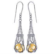 8-9Mm Genuine Golden South Sea Pearl Sterling Silver Earrings