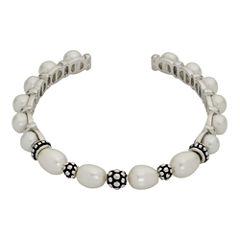 Cultured Freshwater Pearl Sterling Silver Cuff Bracelet