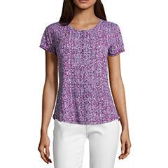 Liz claiborne shirts tops purple for women jcpenney for Liz claiborne v neck t shirts