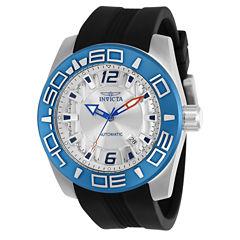 Invicta Aviator Mens Black Strap Watch-23530