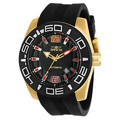 Invicta Aviator Mens Black Strap Watch-23531