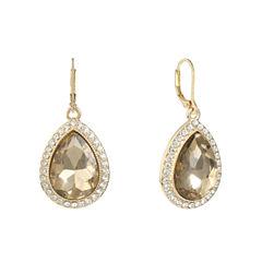 Monet Jewelry Brown Drop Earrings