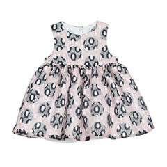 Marmellata Long Sleeve Circles A-Line Dress - Baby Girls