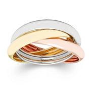 10K Gold Tri-Color Roller Ring