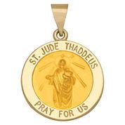 14K Yellow Gold St. Jude Thaddeus Charm Pendant