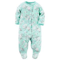 Carter's® Long-Sleeve Floral Sleep & Play - Baby Girls newborn-24m