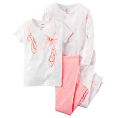 Carter's® 4-pc. Cotton Pajama Set - Baby Girls newborn-24m