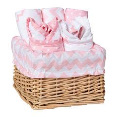Trend Lab® Sky 7-pc. Feeding Basket Gift Set - Pink