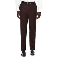 JF J. Ferrar® Enlightened Merlot Flat-Front Suit Pants - Slim Fit
