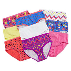 Total Girl 9-pc. Briefs-Big Kid Girls