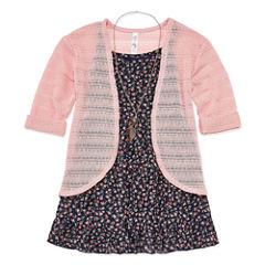 Knit Works 3/4 Sleeve Layered Top - Big Kid Girls
