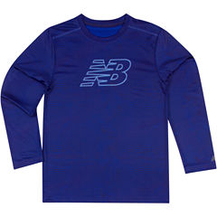 New Balance® Long-Sleeve Printed Performance Tee - Preschool Boys 4-7