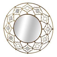 Champagne Geo Wall Mirror