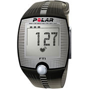Polar® FT1 Heart-Rate Monitor Chronograph Black Strap Watch